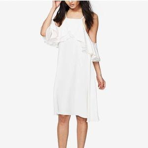 Rachel Roy Ruffle Cold Shoulder Trapeze Dress